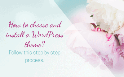 Choosing and installing a WordPress theme