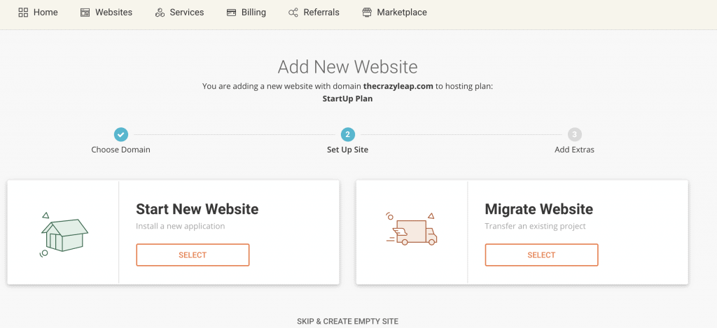 set up website