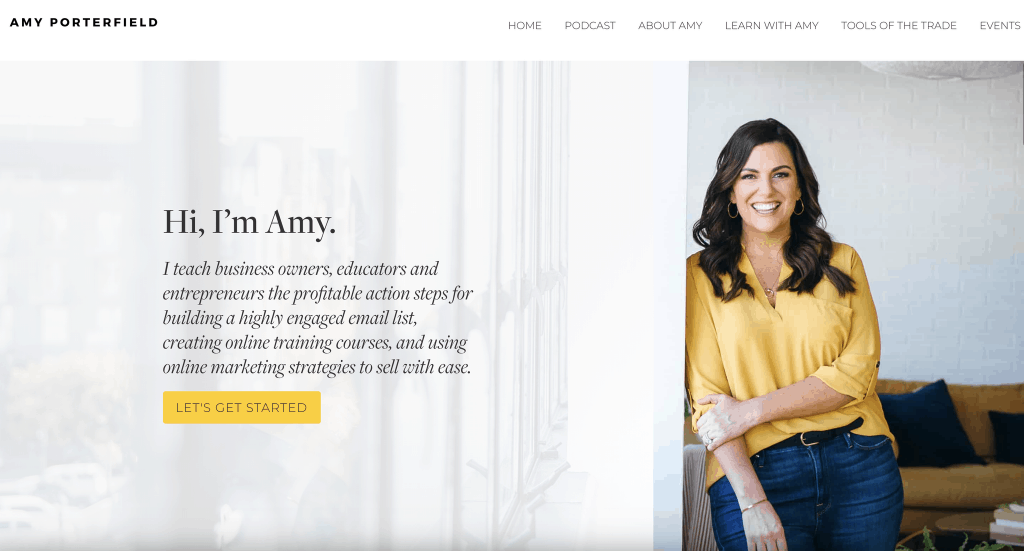 Amy Porterfield website
