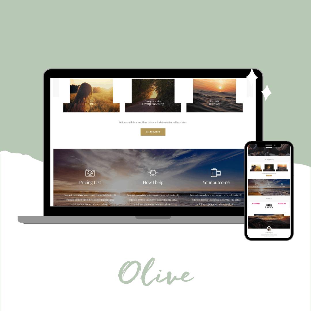 Olive Divi template