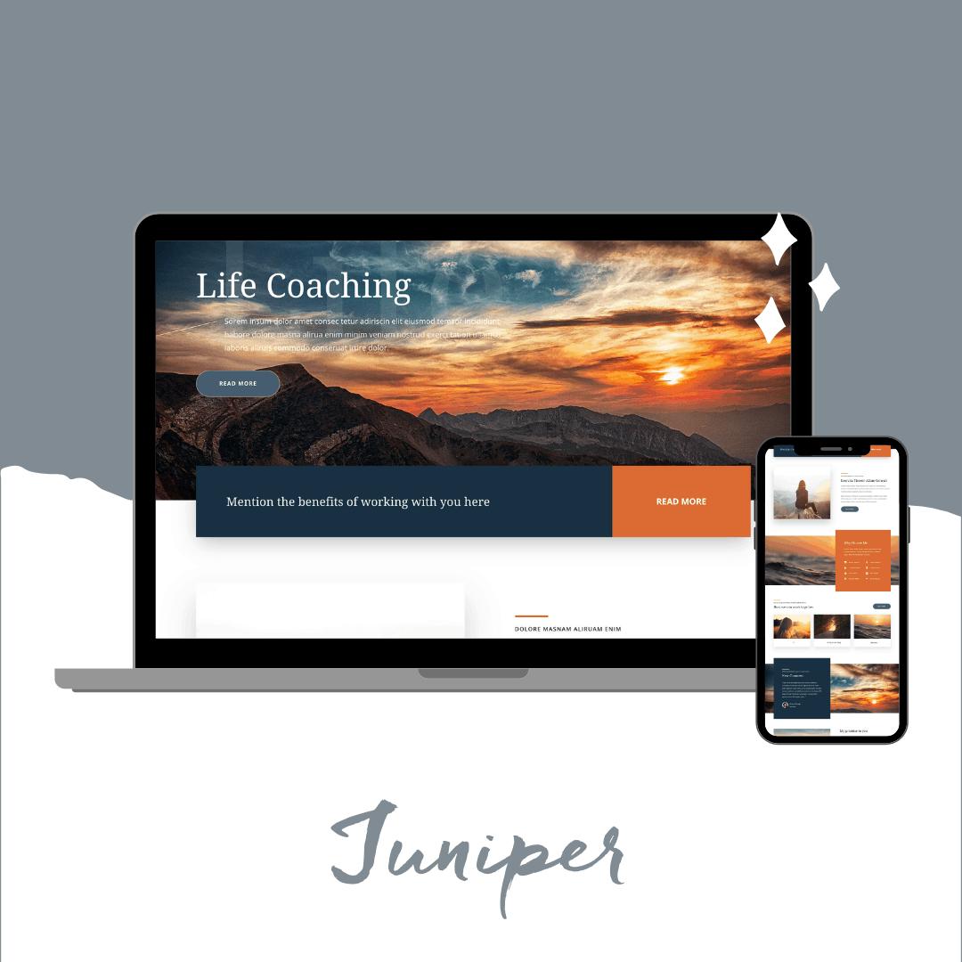 Juniper Divi template