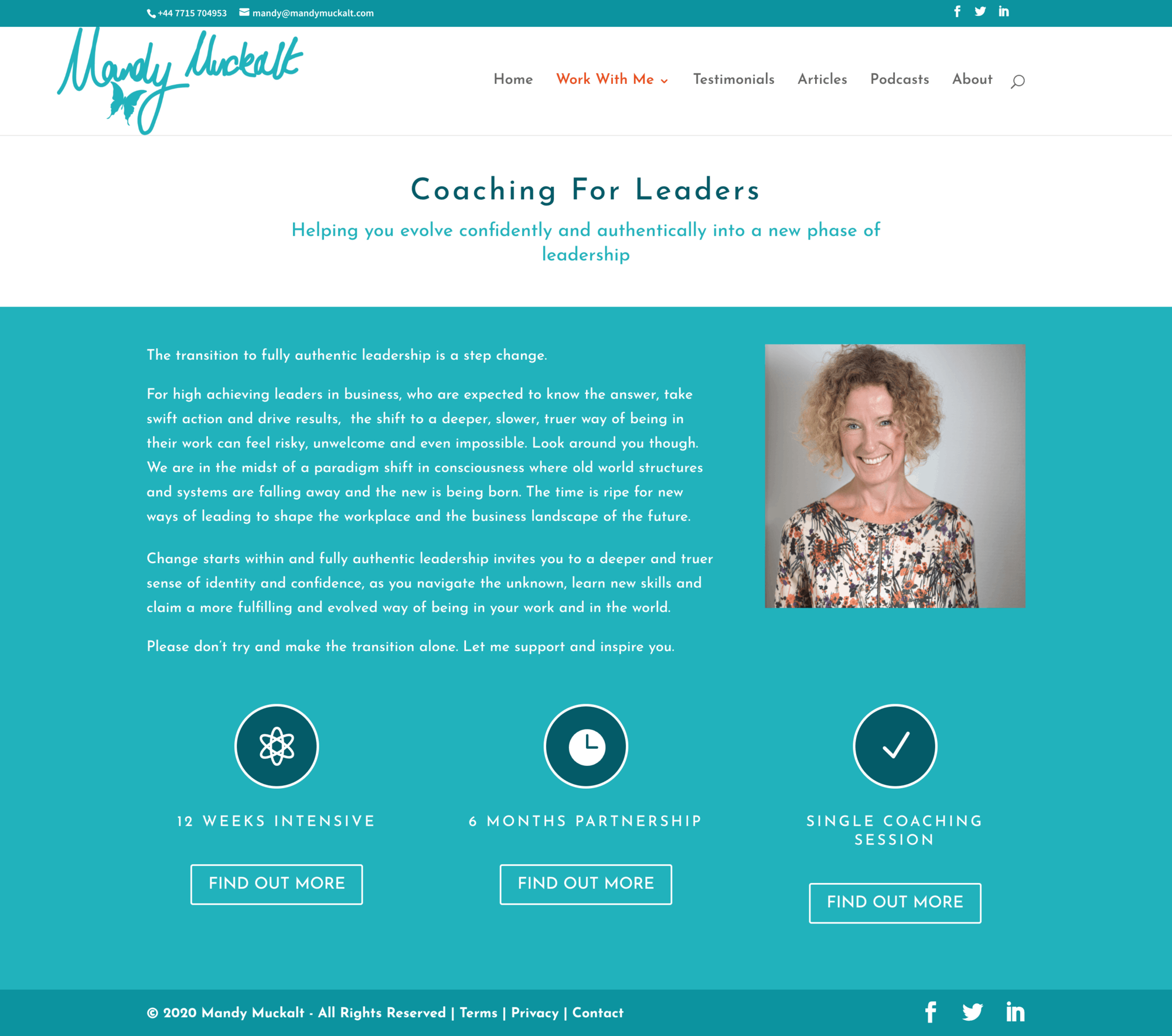 Mandy's website - Work with me