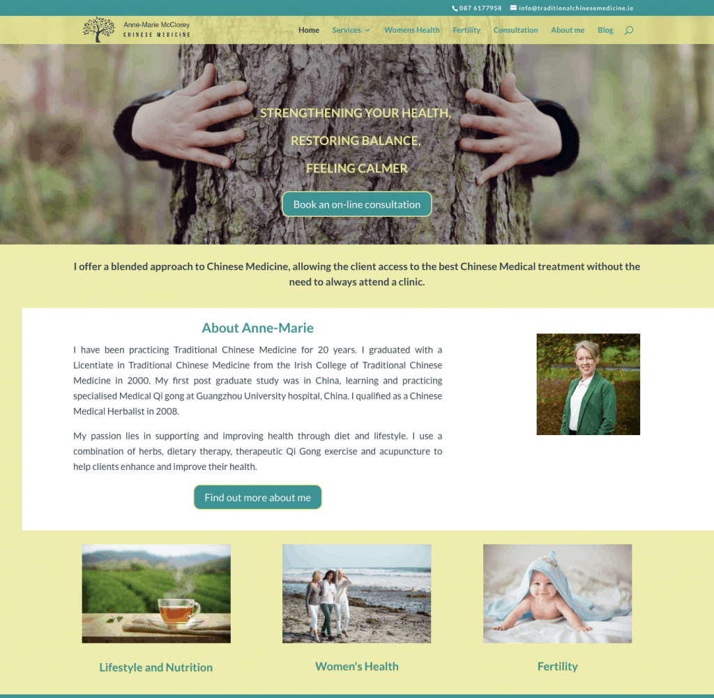 Traditional Chinese Medicine - good service based website