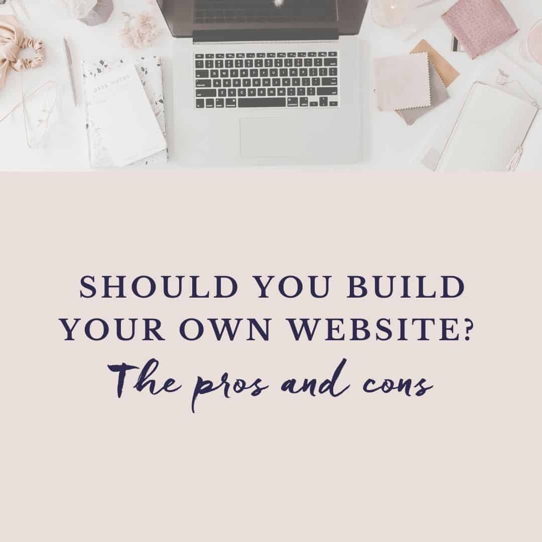 should you build your own website