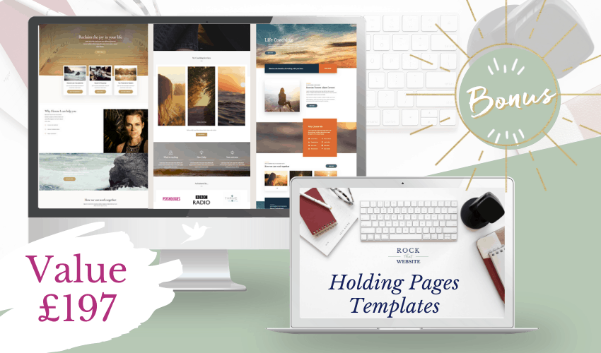 Choose between 3-Holding Pages Templates