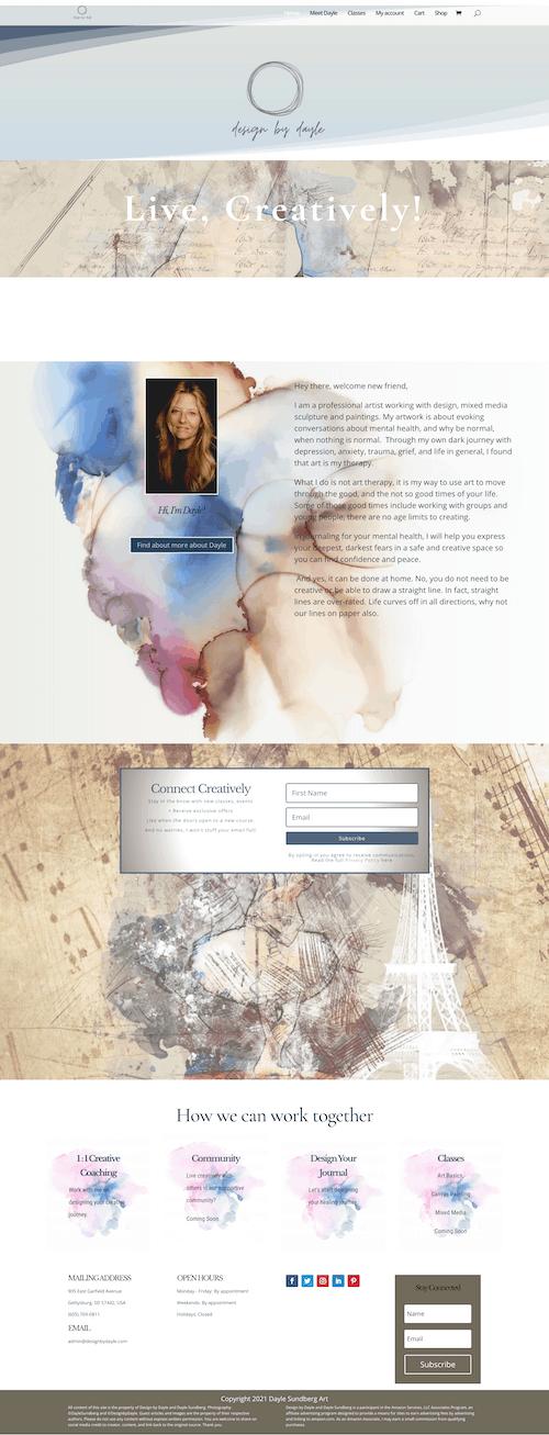 Design by Dayle website