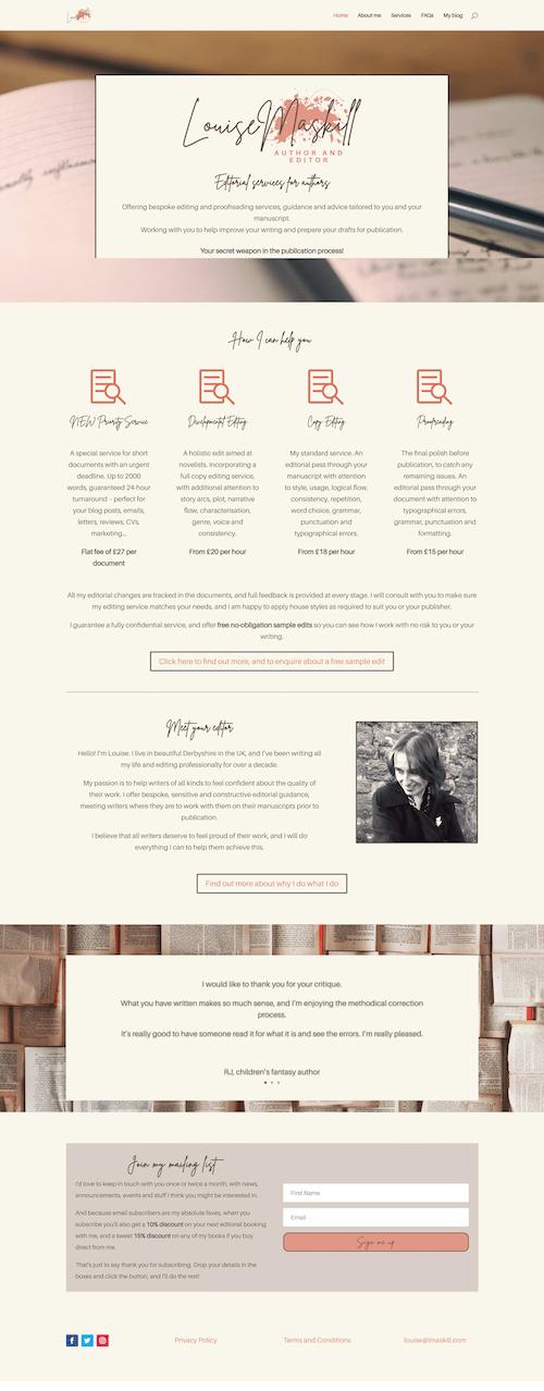 Louise Maskill website