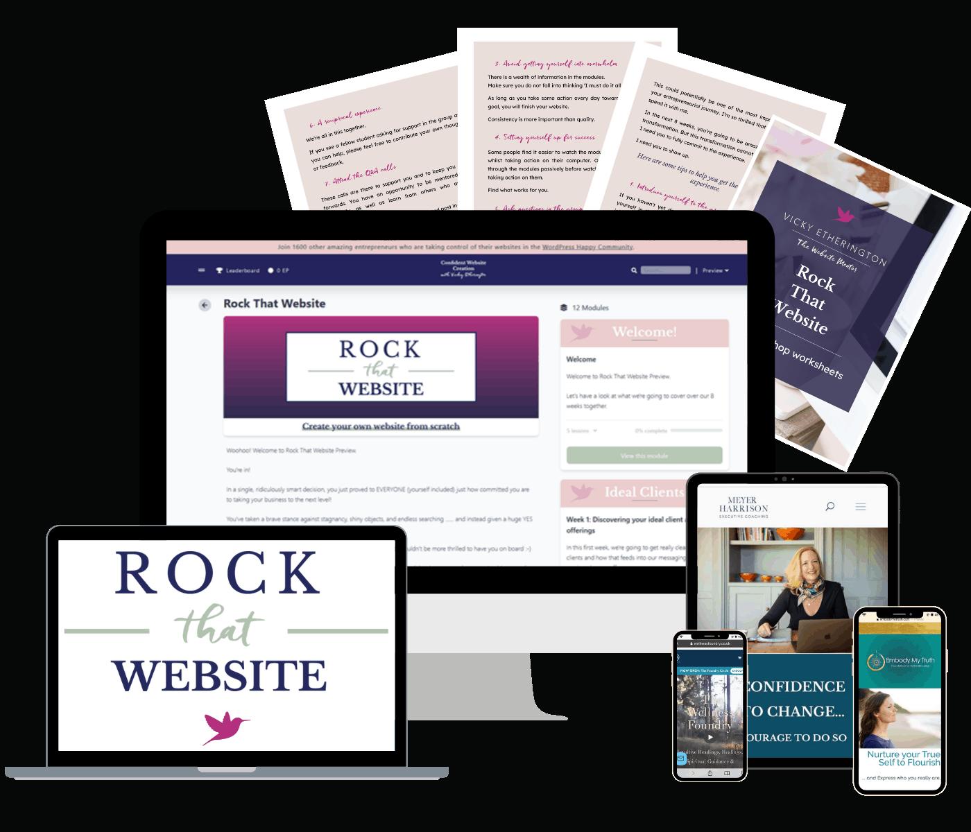 Rock that website