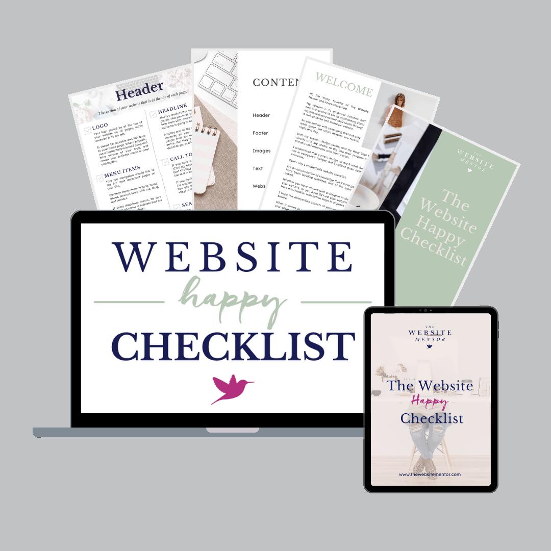 Website Happy checklist